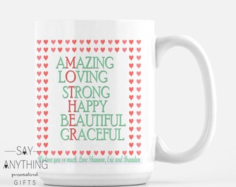 Personalized Gift-Customized Gift–Mother Gift-Mom Gift–Mother's Day Gift–Gift For Mom-Gift For Wife-Gift For Her- Mug