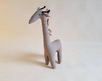 Handmade Fabric Giraffe