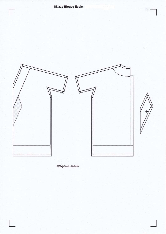 1920s Blouse Pattern Flapper Tie Blouse Essie - PDF Pattern Size ...