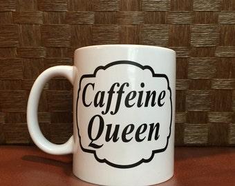 Caffeine Queen Coffee Mug!  *Coffee mug, coffee cup, funny coffee mug, funny coffee cup, gift, personalized mugs  Perfect Gift! Father's Day