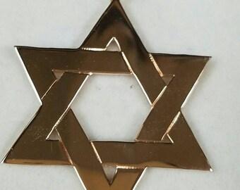 14kt rose gold Jewish star/ Star of David