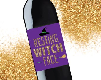 Halloween / wine label / label / wine / party / witches