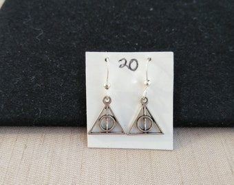 Deathly Hollows Harry Potter Earrings