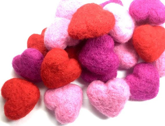 Felted Heart Cat toys