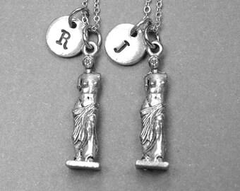 Venus necklace, Venus de Milo necklace, Aphrodite necklace, best friend necklace, best friend jewelry, best friend gift, friendship jewelry