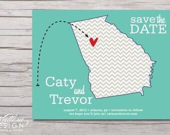 Georgia – Save the Date – Marietta, Atlanta Destination Wedding – Wedding Save the Dates