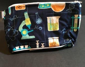 Science Themed Zip Bag, Chemistry Zip Bag