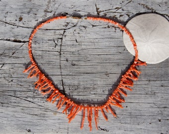 50's Branch Coral Necklace