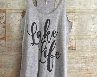 Lake Life - Ladies' Racerback Tank