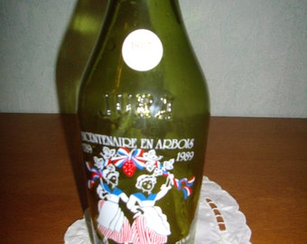 "Screen printed ""Bicentennial 1789-1989"" bottle french Vintage d'Arbois Jura"
