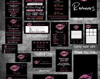 LipSense Bundle, lipsense business card bundle, lipsense bundle, lipsense marketing kit, SeneGence kit, Apply CardsMarketing kit, business
