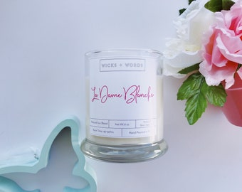 """Wicks + Words - """"La Dame Blanche"""" - Outlander Inspired Natural Soy Candle"""