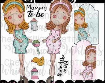 Mommy To Be Clipart Collection- Immediate Download