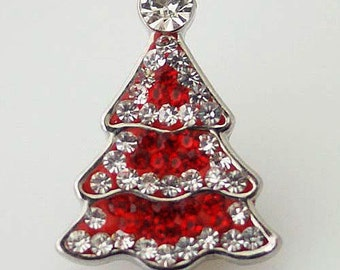 KB4369  Clear and Red Crystal Christmas Tree
