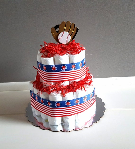Diaper Cakes Chicago Cubs Inspired Diaper Cake Chicago Cubs