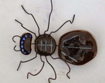 Fused glass Spider, Tarantula