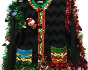 Berek Hand Decorated Christmas Blazer in size L