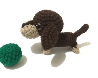 Dachshund Plush Amigurumi Puppy Plush Crochet Puppy Amigurumi Dachshund Dog Plush Stuffed Animal Home Decor Birthday Gift for Her