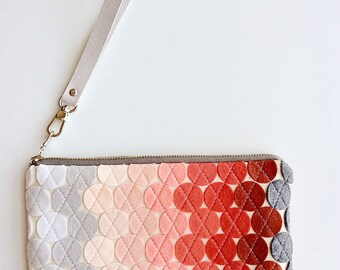 Wristlet Wallet Women Wool Felt Bag Felt Zipper Pouch Red Handbag Colorful Fashion Wristlet Clutch Gifts for Girlfriends iPhone Wallet