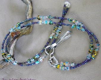 Eyeglass/Badge Lanyard - Handcrafted & Beautiful  by JewelryArtistry - L95