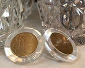 Pair of Vintage Lucite Bu...