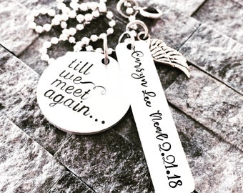 Till we meet again etsy till we meet again pregnancy loss necklace infant loss jewelry miscarriage remembrance jewelry stopboris Choice Image