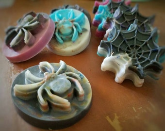 Party Favor Soap - Spider Party Favors - Halloween Treats - Guest Sized Soaps - Soap Favors - Halloween Party Favors - Party Favor Soap