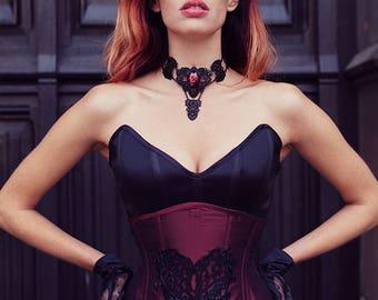 Silk heart corset 24 inch underbust corset