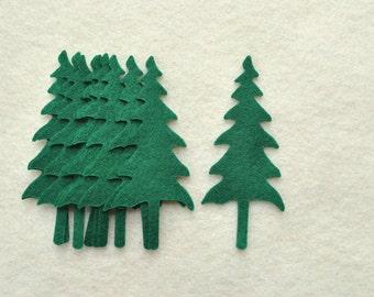 20 Piece Die Cut Felt Pine Trees