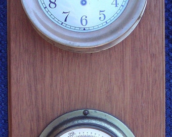 Vintage CHELSEA Maritime Clock with TAYLOR Barometer