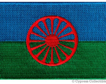 ROMANI Gypsy FLAG PATCH Canada iron-on embroidered applique Top Quality