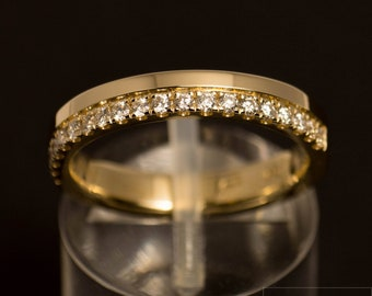 Half-Memoryring/alliance Ring of 585 gold with Diamonds