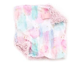 Lovey Watercolor Bubble Pop Twinkle Stars II. Lovey. Watercolor Lovey. Mini Baby Blanket. Security Blanket. Lovie. Minky Lovey.
