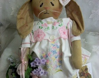 PATTERN, Primitive doll, Easter bunny, 18 in. by Dumplinragamuffin, #174