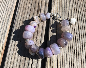 "Purple ""Dragon Vein"" Agate bracelet"