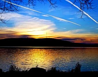 Rib Mountain at Sunset