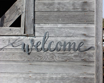 FREE SHIPPING!!! Welcome Metal Wall Decor - Welcome Sign