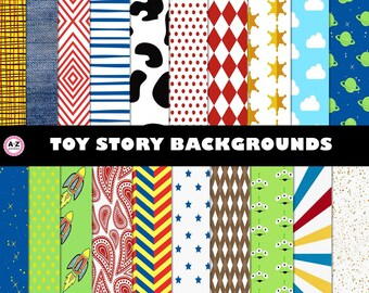 Toy Story Backgrounds - Woody - Buzz - Sheriff - Space - Lightyear inspired - cowboy  Clip Art, Scrapbook papers, commercial use, 20 designs