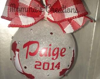 Cheerleader ornament, Cheerleaders, Cheer ornament, Cheer gift, Cheer mom, Cheer coach, Cheer sponsor, School cheer, Rec Cheer