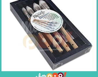 Clarity Stencil Brush Set Of 4 – Assortment Of Sizes
