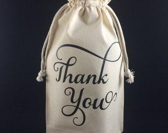 Dank u wijn tas, dank u geschenk, geschenk van de waardering, bruiloft gunst