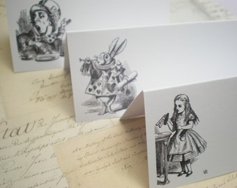 Alice In Wonderland Themed Place Cards - Set Of 10