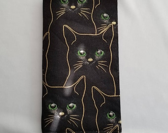 Green Eyed Cat Checkbook Cover