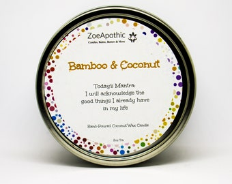 Bamboo Coconut Hand-Poured Coconut Wax Candle
