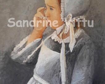 Breton girl sucking his thumb