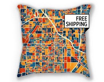 Santa Ana Map Pillow - California Map Pillow 18x18