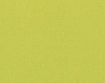 Solid Green Fabric - Bella Solid Chartreuse - Moda Bella Solid Green Fabric By The 1/2 Yard