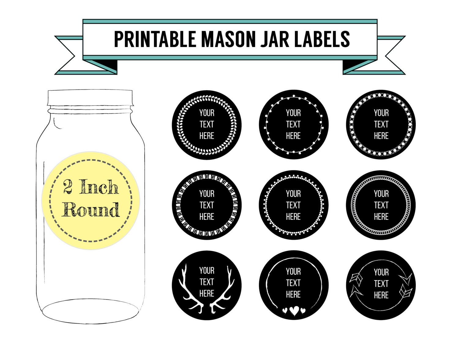 printable labels for mason jars - Roho.4senses.co