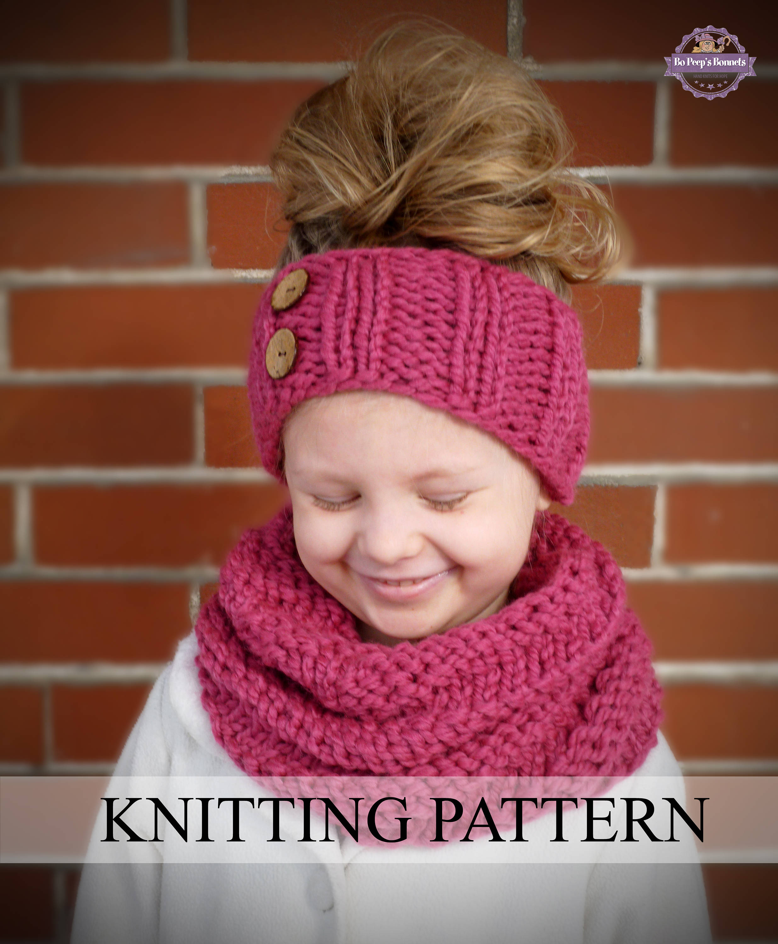 INSTANT DOWNLOAD Knitting PATTERN Spiral Cowl and Headband (Toddler ...