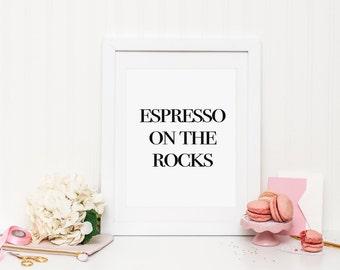 Coffee printable art, coffee print, coffee wall art, kitchen printable, kitchen art, kitchen wall art, espresso quote, coffee quote, print